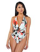 זול בגדי ים וביקיני-נורמלי פוליאסטר בגדי ים & ביקיני סקסית פרחוני ביקיני הדפסים