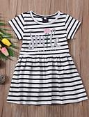זול שמלות לבנות-שמלה פסים בנות ילדים / פעוטות