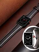 זול רצועת שעונים-עור אמיתי רצועת רצועת היד לצפות בסדרה לצפות Apple 1/3/4 38mm 40mm 42mm 44mm 44mm