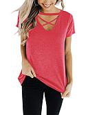 billige T-skjorter til damer-Grime T-skjorte Dame - Ensfarget Rød