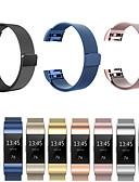 זול להקות Smartwatch-צפו בנד ל Fitbit Charge 3 פיטביט רצועת ספורט / לולאה בסגנון מילאנו מתכת אל חלד רצועת יד לספורט