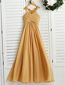 זול חליפות לנושאי הטבעת-גזרת A קולר עד הריצפה שיפון שמלה לשושבינות הצעירות  עם אפליקציות / סלסולים על ידי LAN TING BRIDE® / מסיבת החתונה