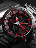 זול חליפות לנושאי הטבעת-SKMEI בגדי ריקוד גברים שעון דיגיטלי Japanese דיגיטלי טיטניום שחור 30 m עמיד במים לוח שנה כרונוגרף אנלוגי-דיגיטלי יום יומי - לבן אדום כחול שנתיים חיי סוללה
