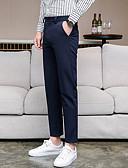 povoljno Muške duge i kratke hlače-Muškarci Osnovni Odijelo / Chinos Hlače - Jednobojni Tamno siva Navy Plava Svijetlosiva 38 35 37