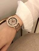 זול שעונים-בגדי ריקוד נשים שעון מכני קווארץ מתכת אל חלד עמיד במים אנלוגי אופנתי - כסף זהב ורד