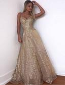 זול שמלות ערב-גזרת A רצועות ספגטי שובל סוויפ \ בראש טול גב יפהפייה ערב רישמי שמלה עם על ידי LAN TING Express