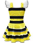 זול שמלות לבנות-שמלה עד הברך שרוולים קצרים טלאים פעיל / סגנון רחוב בנות ילדים / פעוטות
