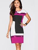 זול שמלות מיני-מעל הברך פאייטים, קולור בלוק - שמלה גזרת A בגדי ריקוד נשים