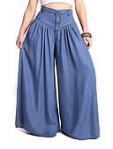 cheap Women's T-shirts-Women's Sporty / Active Wide Leg Pants - Solid Colored Blue Black XXXL XXXXL XXXXXL