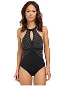halpa Yksiosaiset uima-asut-Naisten Perus Musta Kolmia Pikkutuhmat Bikini Uima-asut - Ruudullinen Ristiin rastiin M L XL Musta