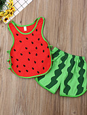 halpa Vauvojen mekot-Vauva Tyttöjen Aktiivinen / Perus Color Block Hihaton Normaali Vaatesetti Rubiini