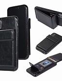 זול מגנים לאייפון-מגן עבור Apple iPhone XR / iPhone XS Max / iPhone X ארנק / מחזיק כרטיסים כיסוי אחורי אחיד קשיח עור PU