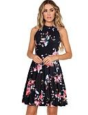 povoljno Print Dresses-Žene A kroj Haljina Cvjetni print Iznad koljena
