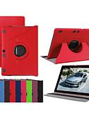 זול מגנים לטלפון-מגן עבור Lenovo Lenovo Tab-X103F עמיד בזעזועים / עם מעמד / אולטרה דק כיסוי מלא אחיד קשיח עור PU