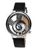 Недорогие Кварцевые часы-Часы со скелетом Кожа Аналоговый Черный / Нержавеющая сталь