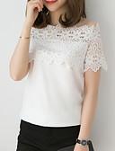 hesapli Gömlek-Kadın's Gömlek Geometrik Temel Siyah