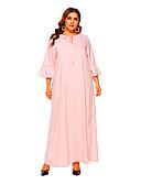 hesapli Kadın Elbiseleri-Kadın's Kombinezon Elbise - Solid, Fiyonklar Maksi