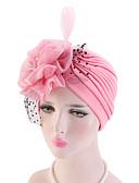 hesapli Kadın Şapkaları-Kadın's Actif Temel sevimli Stil Örümcek Ağı Kıvırılan Şapka Zıt Renkli Tüm Mevsimler Siyah YAKUT Doğal Pembe