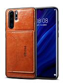 זול מגנים לטלפון-מגן עבור Samsung Galaxy Galaxy A50 (2019) ארנק / מחזיק כרטיסים / עמיד בזעזועים כיסוי אחורי אחיד קשיח עור PU