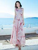 hesapli Print Dresses-Kadın's Çan Elbise - Batik Maksi