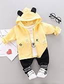 povoljno Kompletići za Za dječake bebe-Dijete Dječaci Ležerne prilike / Osnovni Geometrijski oblici Print Dugih rukava Regularna Normalne dužine Komplet odjeće žuta