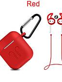 זול להקות Smartwatch-כיסוי סיליקון מקרה + קרבינר וו + אנטי אבד רצועה אוזניות + טיפים האוזן להגדיר עבור airpods תפוח