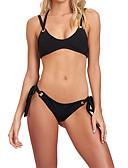 hesapli Bikiniler ve Mayolar-Kadın's Siyah Doğal Pembe Tankini Mayolar - Solid S M L Siyah