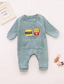 זול שמלות לתינוקות-מקשה אחת One-pieces שרוול ארוך דפוס בנות תִינוֹק