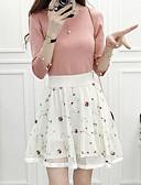 hesapli Kadın Pantolonl-Kadın's A Şekilli Etekler - Çiçekli Siyah Beyaz S M L