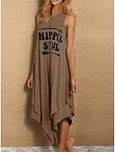 זול שמלות מקרית-מקסי אחיד - שמלה גזרת A בגדי ריקוד נשים