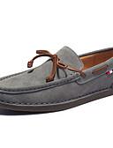 זול תחתוני גברים אקזוטיים-בגדי ריקוד גברים מוקסין סינטטיים אביב / סתיו נעליים ללא שרוכים נושם שחור / אפור / חאקי