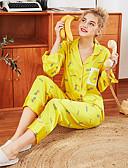 hesapli Pijamalar-Kadın's Etekler - Geometrik / Zıt Renkli Desen Beyaz Sarı M L XL / Askılı