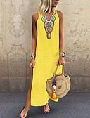 hesapli Kadın Elbiseleri-Kadın's Boho Zarif Kombinezon Elbise - Solid Kabile, Bölünmüş Kırk Yama Maksi