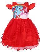 זול בגדי ים לבנות-שמלה עד הברך שרוולים קצרים תחרה אנימציה פעיל / סגנון רחוב בנות ילדים / פעוטות