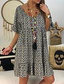 hesapli Mini Elbiseler-Kadın's Temel A Şekilli Elbise - Geometrik Diz üstü