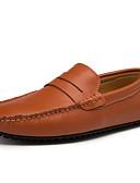זול תחתוני גברים אקזוטיים-בגדי ריקוד גברים מוקסין סינטטיים אביב / סתיו נעליים ללא שרוכים נושם לבן / שחור / חום