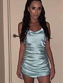 hesapli Mini Elbiseler-Kadın's Bandaj Elbise - Solid Diz üstü