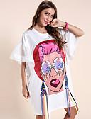 hesapli Mini Elbiseler-Kadın's Sokak Şıklığı Kombinezon Elbise - Soyut, Örümcek Ağı Kırk Yama Diz üstü