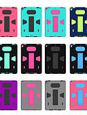 זול מגנים לאייפון-מגן עבור Apple מיני iPad 5 / iPad 4/3/2 / iPad Mini 3/2/1 עם מעמד כיסוי אחורי אחיד רך עור PU / TPU / סיליקון