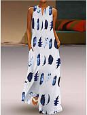 זול סטים של ביגוד לבנות-צווארון V מקסי גיאומטרי - שמלה נדן בגדי ריקוד נשים