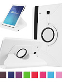 זול מארז Samsung-מגן עבור Samsung Galaxy Tab E 9.6 מחזיק כרטיסים / עמיד בזעזועים כיסוי מלא אחיד קשיח עור PU