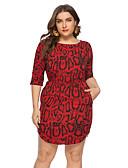 זול שמלות במידות גדולות-מיני שרוכים לכל האורך, חיה - שמלה צינור בגדי ריקוד נשים