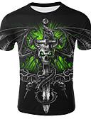 povoljno Muške majice i potkošulje-Majica s rukavima Muškarci - Osnovni Dnevno 3D Crn US36 / UK36 / EU44