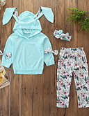 זול לבנים סטים של ביגוד לתינוקות-סט של בגדים שרוול ארוך פרחוני בנות תִינוֹק