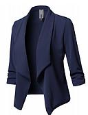 זול ביקיני ובגדי ים-בגדי ריקוד נשים שחור יין לבן S M L בלייזר אחיד צווארון V