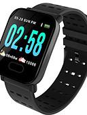 hesapli Akıllı Saatler-Akıllı İzle Dijital Modern Stil Stortif Silikon 30 m Su Resisdansı Kalp Ritmi Monitörü Bluetooth Dijital Günlük Dış Mekan - Siyah Havuz Kırmzı