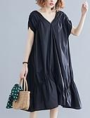 hesapli Mini Elbiseler-Kadın's Çan Elbise - Solid Diz-boyu