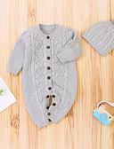 זול אוברולים טריים לתינוקות-מקשה אחת One-pieces שרוול ארוך סרוג בנים תִינוֹק 2pcs