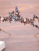 זול אביזרים-סגסוגת Tiaras עם דמוי פנינה / פרח חלק 1 חתונה / יום הולדת כיסוי ראש