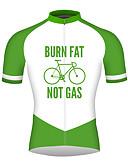 hesapli Erkek Gömlekleri-21Grams Erkek Kısa Kollu Bisiklet Forması Orman Yeşili Bisiklet Forma Üstler Nefes Alabilir Hızlı Kuruma Yansıtıcı çizgili Spor Dalları %100 Polyester Dağ Bisikletçiliği Yol Bisikletçiliği Giyim